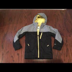 Columbia Omni Tech hooded ski jacket XS 6/7